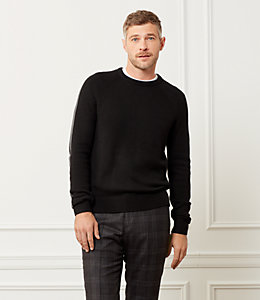 Racing Stripe Crewneck Sweater