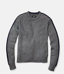 Racing Stripe Crewneck Sweater