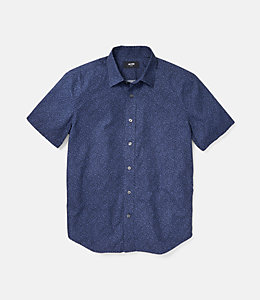 Clift Short Sleeve Confetti Point Collar