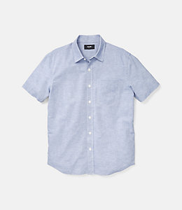 Clift Short Sleeve Fine Stripe Point Collar
