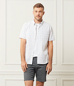Caufield Short Sleeve Horizontal Variated Stripe One Pocket Shirt