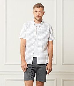 Caufield Short Sleeve Horizontal Variated Stripe One Pocket Shirt