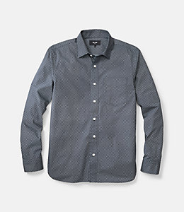 Grant Dot Print Point Collar Shirt