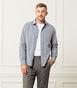 Grant End On End Check Point Collar Shirt