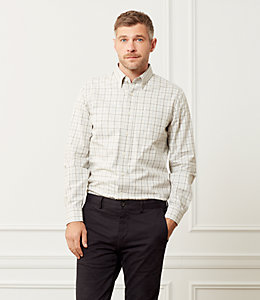 Palmer Heathered Gingham One Pocket Shirt
