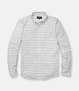 Palmer Horizontal Variated Stripe One Pocket Shirt