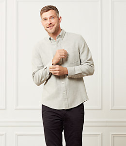 Palmer Heathered Double Face Houndstooth One Pocket Shirt