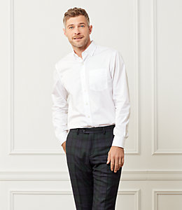 Fine Twill Spread Collar Shirt