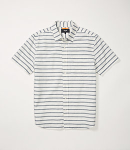 Berber Stripe Short Sleeve Poplin Shirt