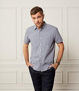 Zig Zag Short Sleeve Dobby Shirt