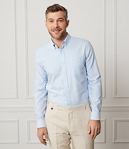Cotton Oxford Long Sleeve Shirt