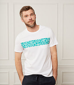 Mexican Flower Striped T-Shirt