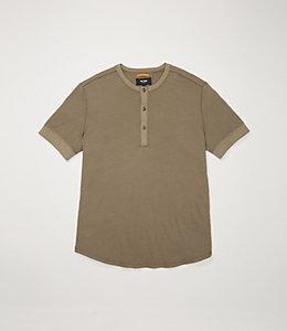 Linen Short Sleeve Henley