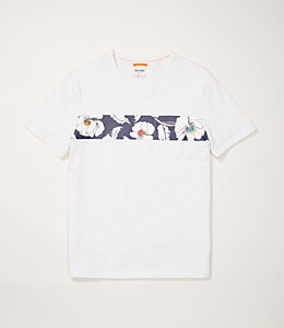 Poppy Floral Striped Tee