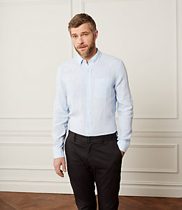 Linen Micro Striped Shirt