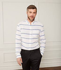 Linen Horizontal Striped Shirt