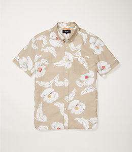 Short Sleeve Poppy Floral Shirt