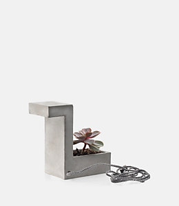 Concrete Desk Lamp with Mini Planter