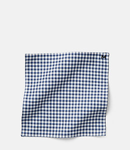 Small Check Pocket Square