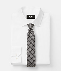 Wool Graph Check Tie