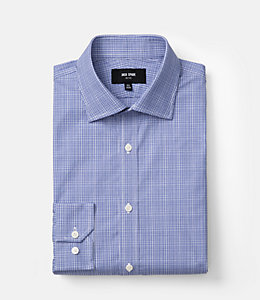 Thompson Micro-Plaid Dress Shirt