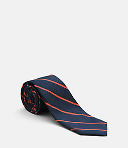 Spaced striped Tie