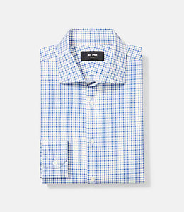 Thompson Twill Tattersall Check Dress Shirt
