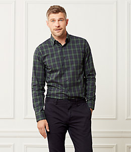Thompson Classic Fit Plaid Tartan Dress Shirt