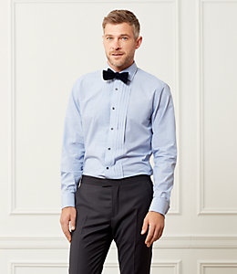 Bradley Pleated Front End On End Tuxedo Shirt