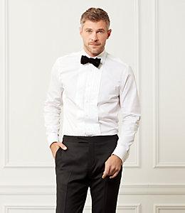 Bradley Pleated Front Fine Twill Tuxedo Shirt
