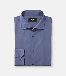 Thompson Classic Fit Spread Collar Textured Pinstripe Dresshirt