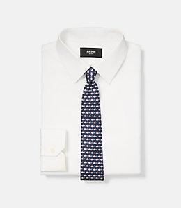 Santa Shark Print Tie