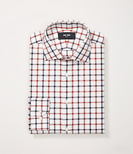 Herringbone Tattersal Dress Shirt