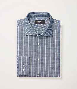 Indigo Stripe Dress Shirt