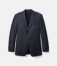 Warren Fit Wool Glen Plaid Windowpane Sport Coat