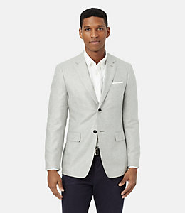 Warren Fit Silk Herringbone Sport Coat