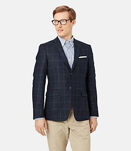 Warren Fit Silk Blend Windowpane Sport Coat