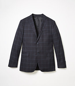 Warren Fit Architectural Plaid Sport Coat