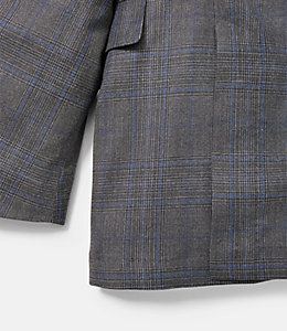 Warren Fit Prince Of Wales Overcheck Sport Coat