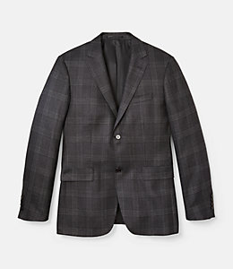 Warren Fit Silk Textured Windowpane Sport Coat