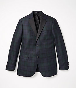Black Watch Notch Lapel Tuxedo Jacket