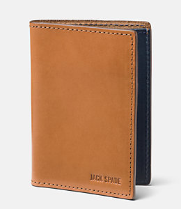 Mitchell Leather Vertical Flap Wallet