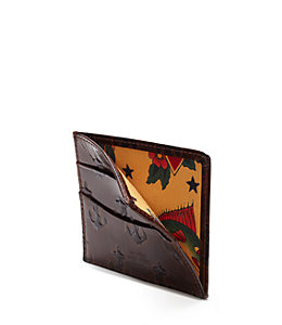 Embossed Anchor Bill Flap Wallet