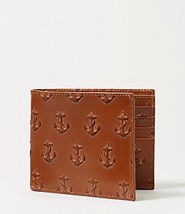 Embossed Anchor International Wallet