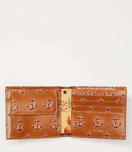 Embossed Anchor International Wallet