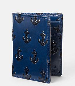 Embossed Anchor Vertical Flap Wallet