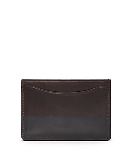 Dipped Leather Credit Card Holder