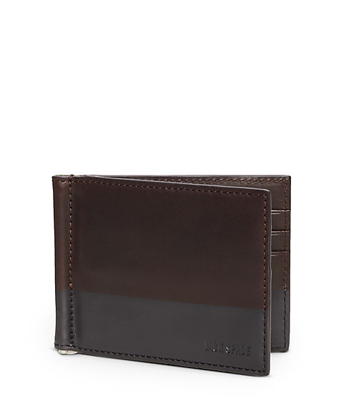 Dipped Leather Money Clip Bill Fold