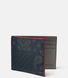 Bandana Barrow Leather Slim Billfold