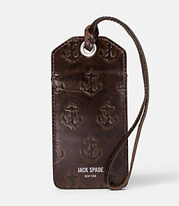 Embossed Anchor Luggage Tag